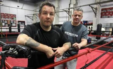 Dropkick Murphys leader Ken Casey (left) and South Boston promoter Peter Welch are hoping to revive boxing in Boston.
